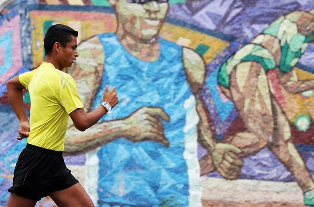 Entrenamiento equipo de marcha rumbo a Copa Panamericana