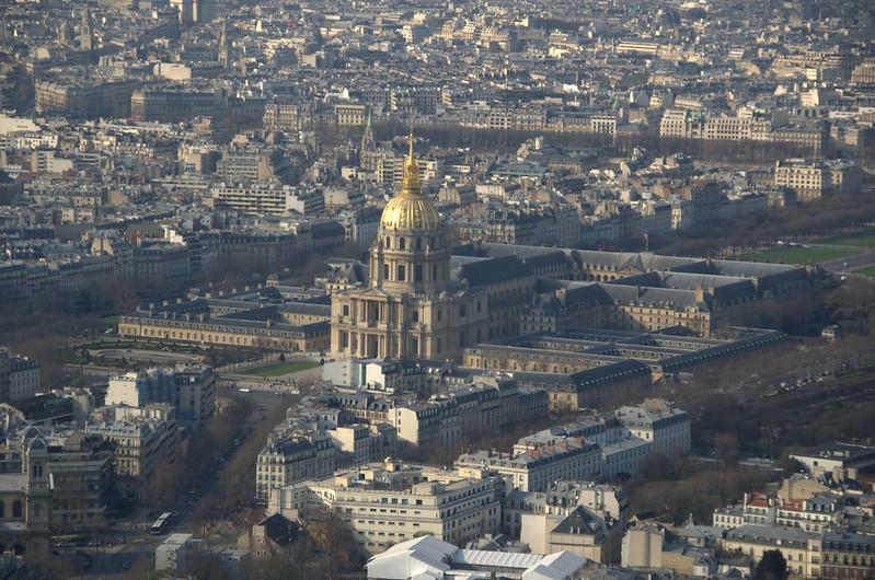 Invalides visto da Torre Montparnasse