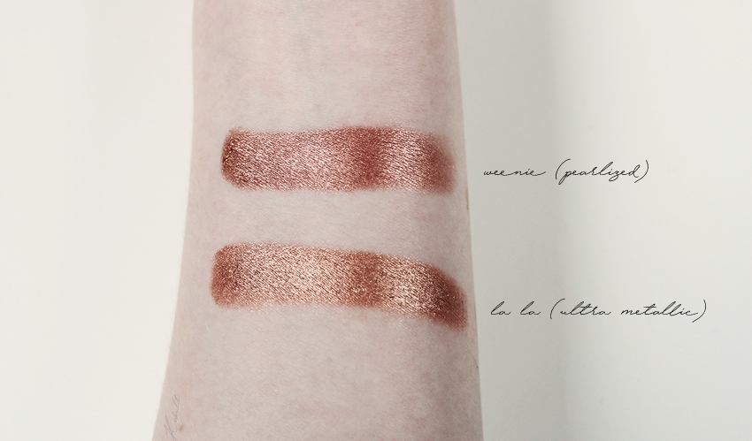colourpop pearlized super metallic shadow swatches