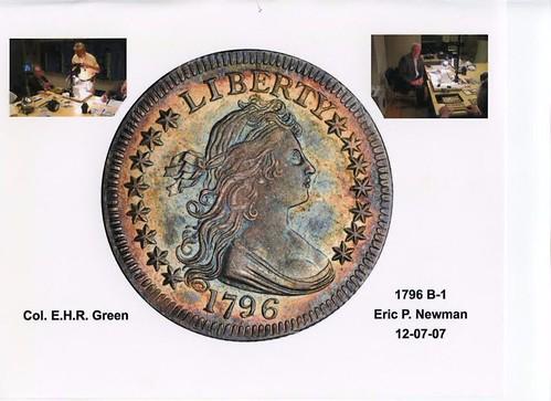 Green-Newman 1796 quarter