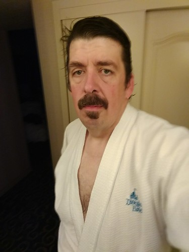 Me in the Disneyland Hotel Robe