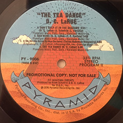 D.C. LARUE:THE TEA DANCE(LABEL SIDE-B)