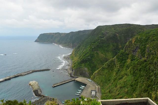 八丈島・名古の展望台からの景色