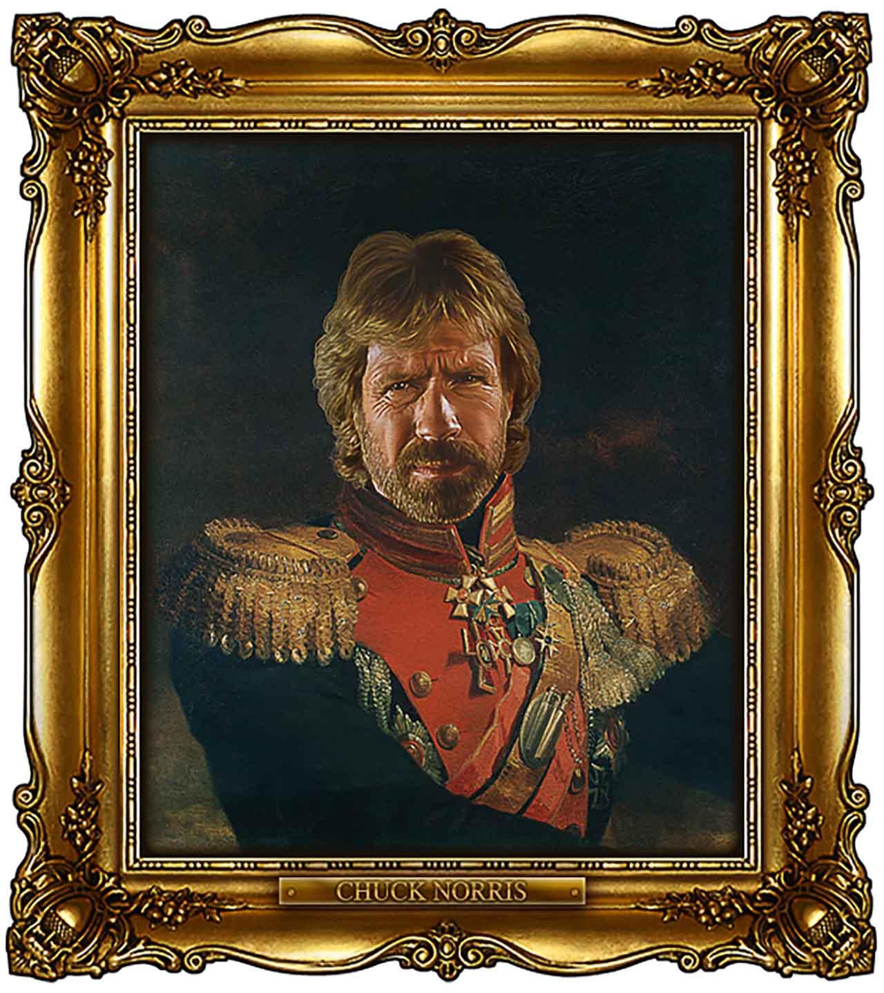 Artist Turns Famous Actors Into Russian Generals - Chuck Norris