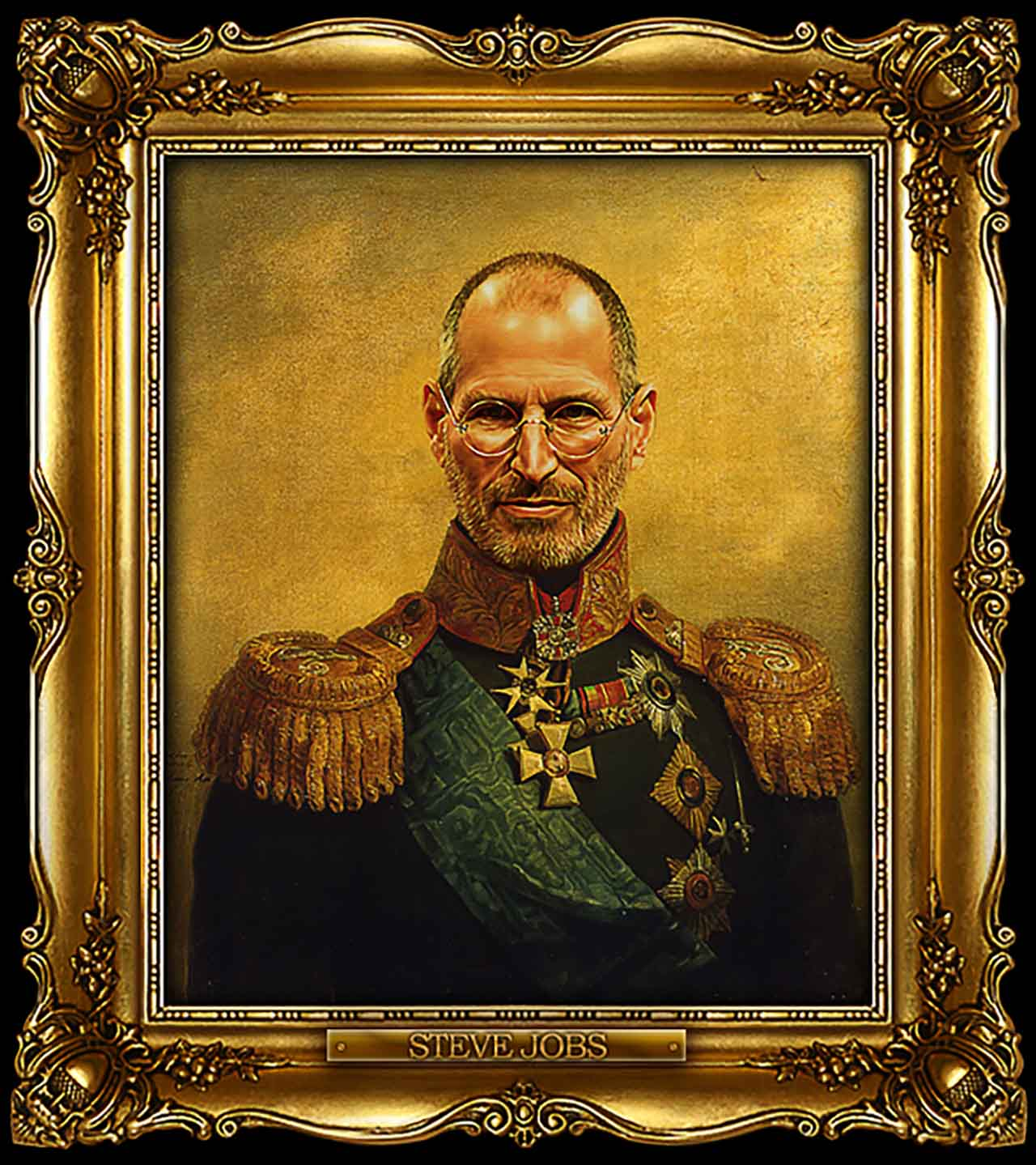 Artist Turns Famous Actors Into Russian Generals - Steve Jobs