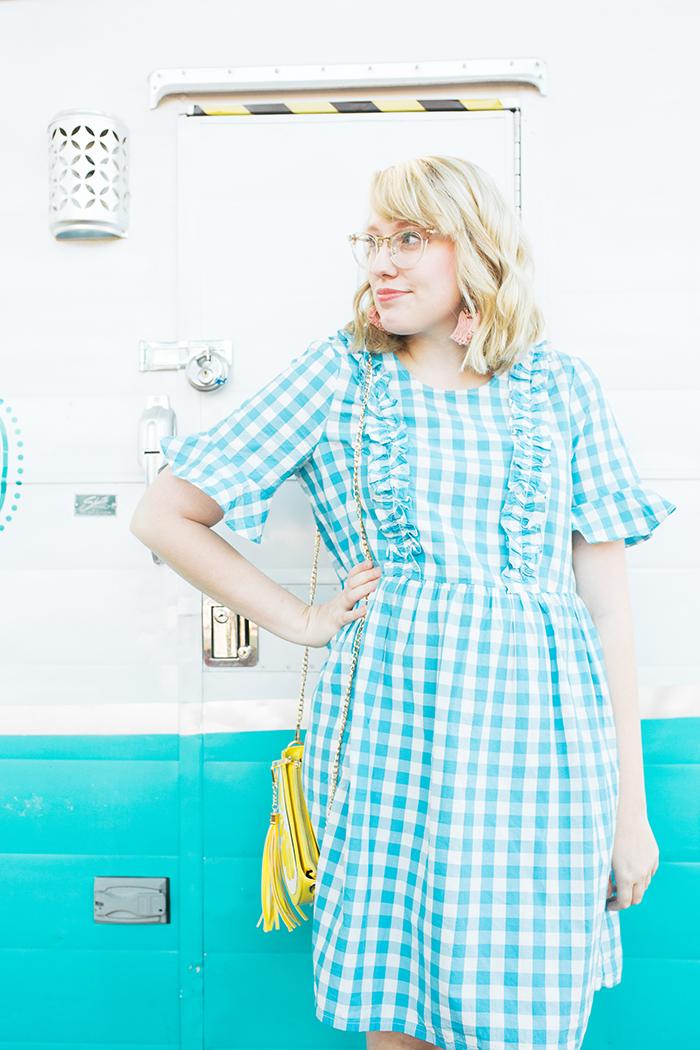 austin fashion blogger writes like a girl gingham asos dress7