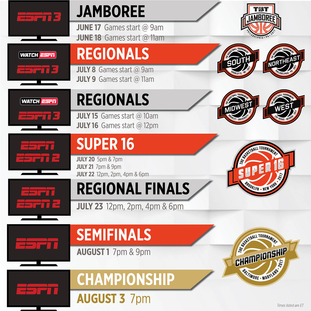 | Basketball The June To Stream Jamboree  TBT ESPN 17-18