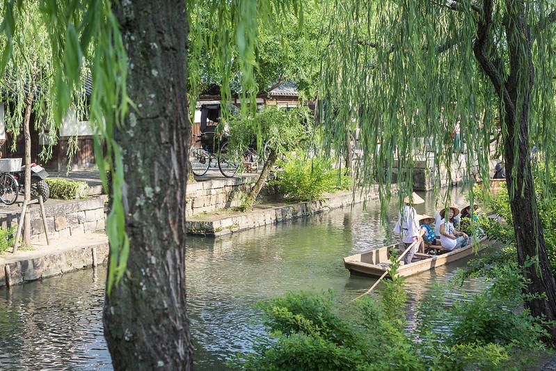 倉敷川と渡し船