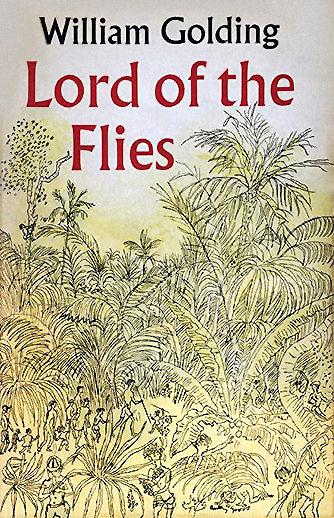 Bìa tiểu thuyết Lord of the Flies của tác giả William Golding (ảnh: CNBC)