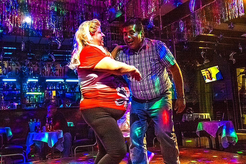 Dancers in nightclub off Garibaldi Square--Mexico City