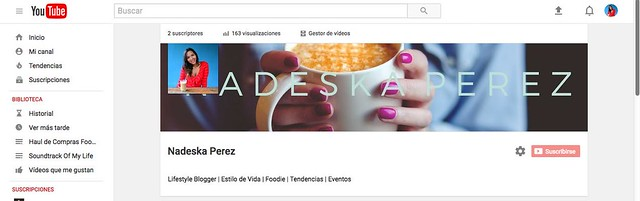 canal youtube nadeska perez