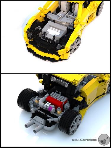 Tonagari Pequenaluz RLP full engine - 14-wide - Lego