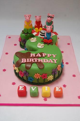 No 3 Peppa S Picnic Cake Beautiful Birthday Cakes