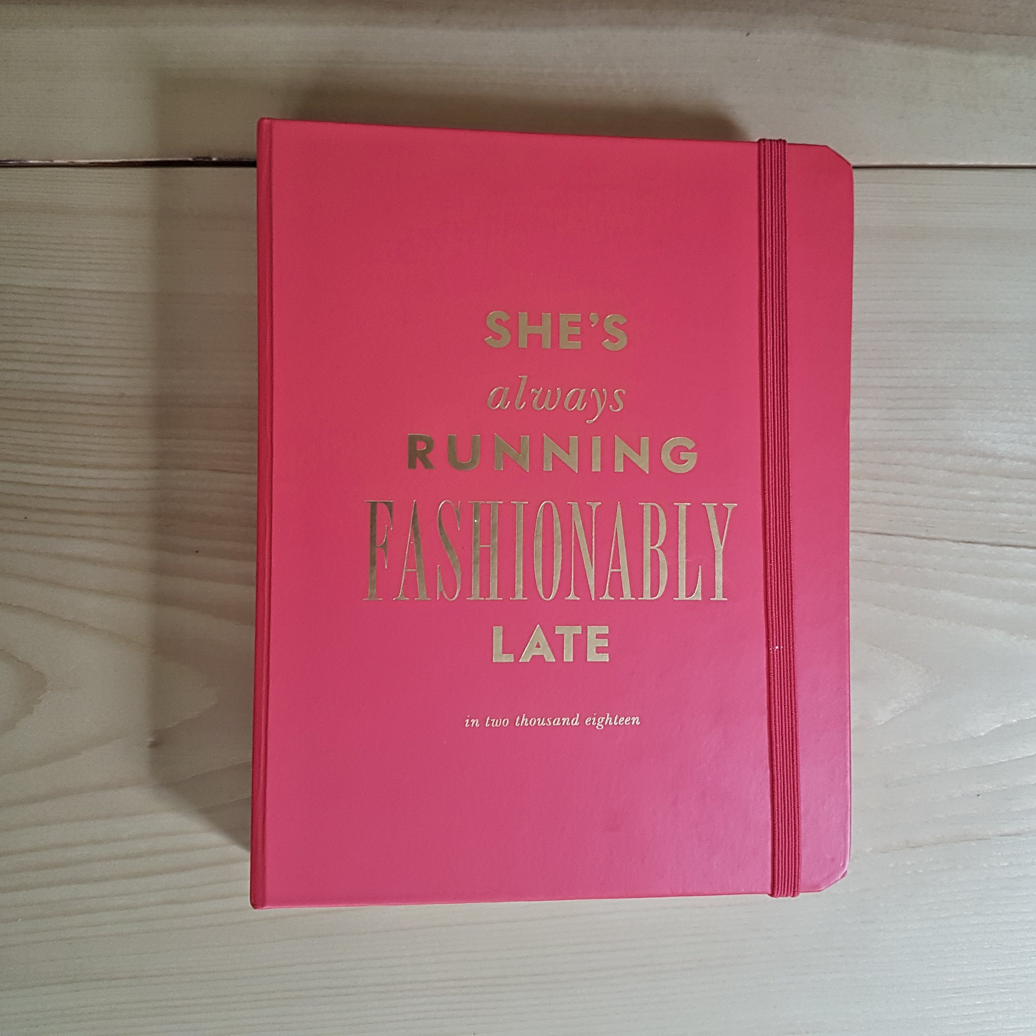 Kate Spade 2018 Fashionably Late Planner cover