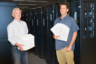 Charliecloud scientists Tim Randles and Reid Priedhorsky