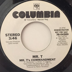 MR.T:MR.T'S COMMANDMENT(LABEL SIDE-A)