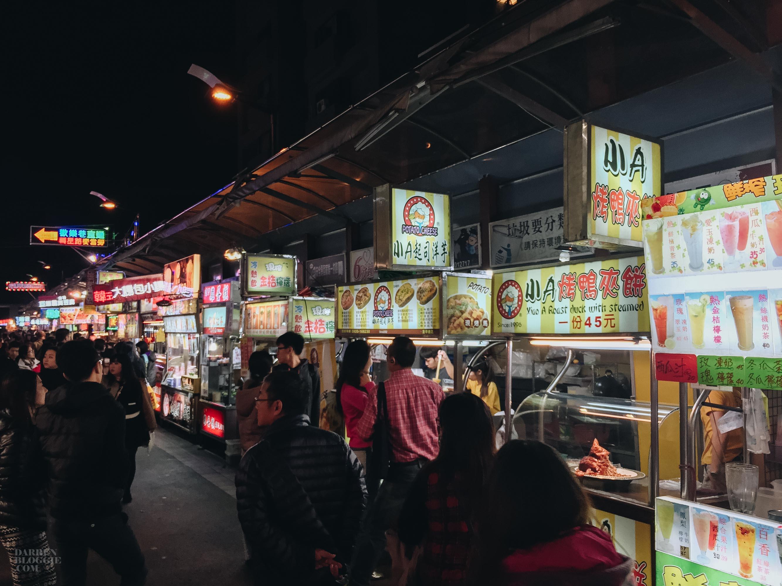 fengjia night market taichung taiwan darrenbloggie