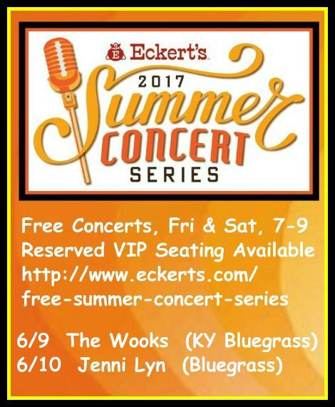 Eckert's Summer Concerts 6-9, 6-10-17