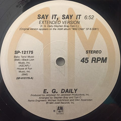 E.G. DAILY:SAY IT, SAY IT(LABEL SIDE-A)