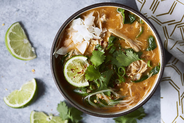 Quick Red Curry Soup {Gluten-Free, Paleo, Veg Options}