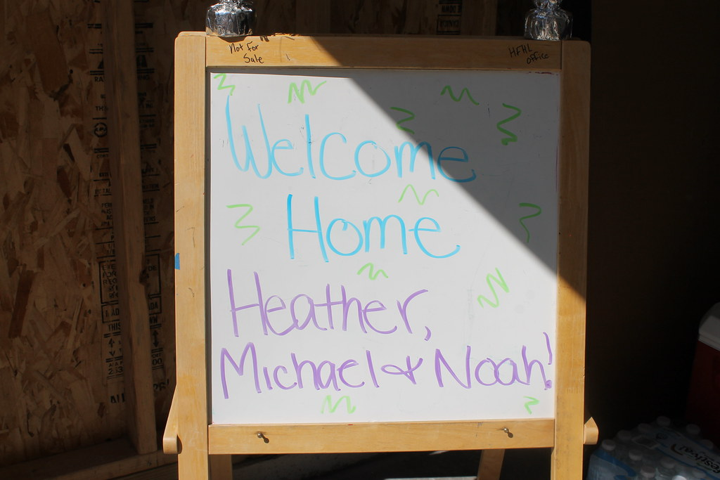 Habitat house becomes a home