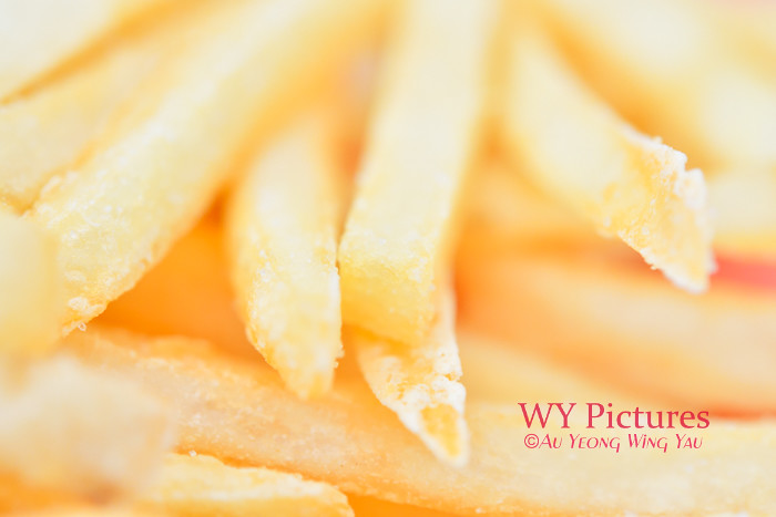Golden French Fries Close-up