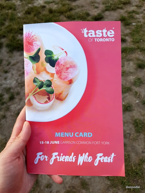 Taste of Toronto 2017 booklet