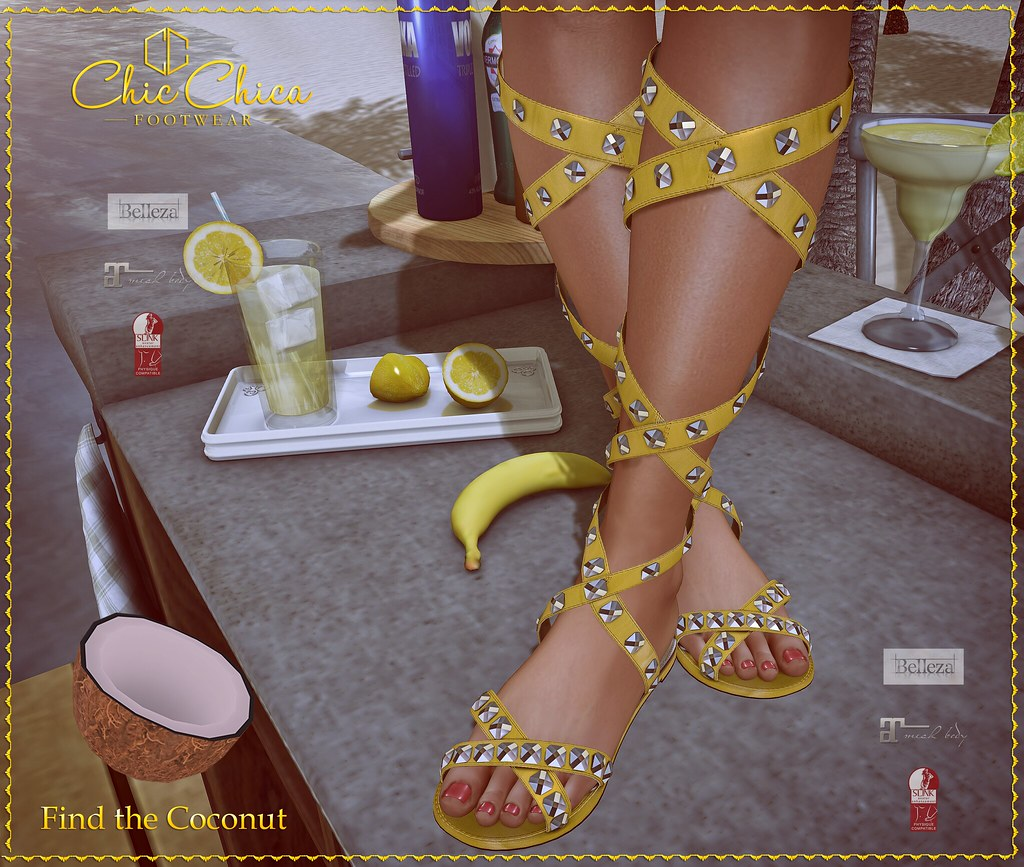 Sandals by ChicChica soon for Woman Only Hunt @ Mainstore