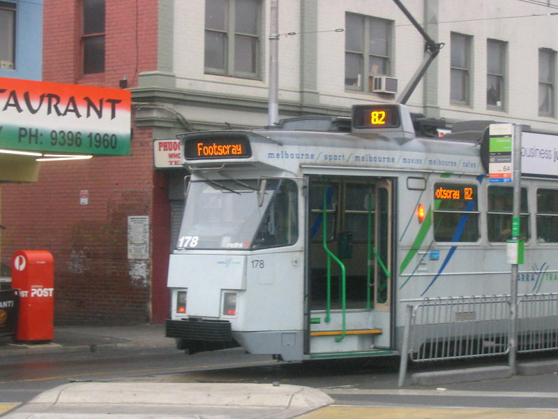 Test Z-class tram 178 destination signs, June 2007