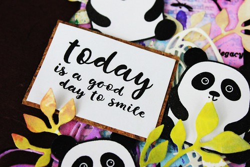 Meihsia Liu Simply Paper Crafts Mixed Media Tag Critters Panda Simon Says Stamp 4