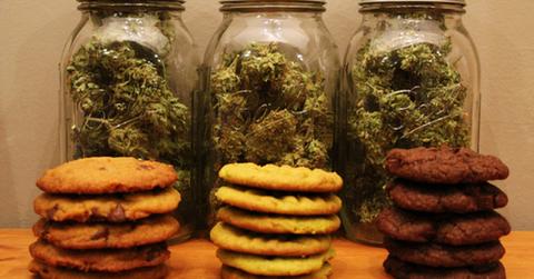 galletas de chispas de chocolate de cannabis