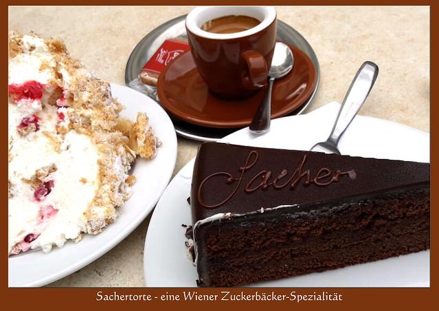 Kuchen und Torten, hier: Sachertorte, eine Wiener Zuckerbäcker-Spezialität ... Foto: V&J