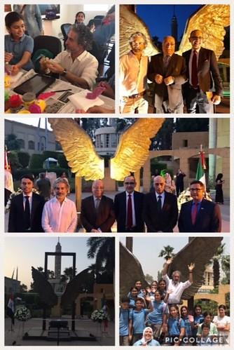 """Aterriza la obra las """"Alas de México"""" en El Cairo, primera vez en el Mundo Árabe"""