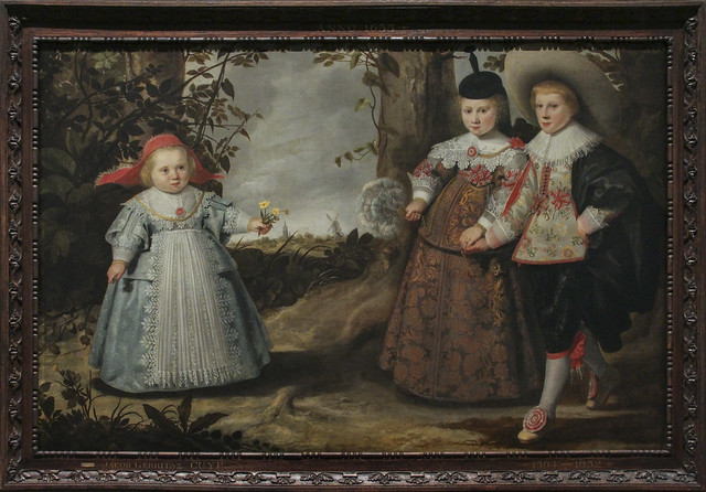 Three children of Francken in a landscape, Jacob Grritsz, 1635