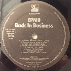 EPMD:BACK IN BUSINESS(LABEL SIDE-B)