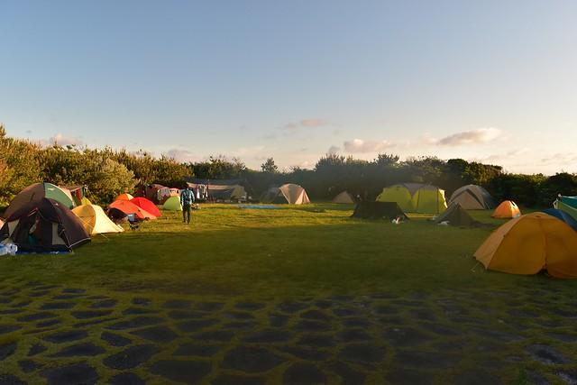 八丈島・底土キャンプ場のテントサイト
