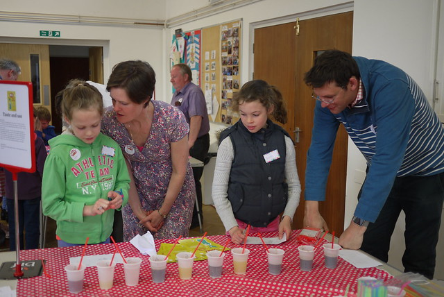 Taste and see activity from chapter 5 of Messy Church Does Science