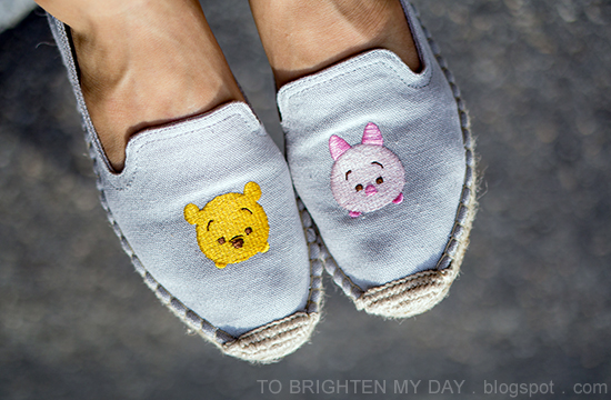 Grace Gift Tsum Tsum espadrilles - Pooh and Piglet
