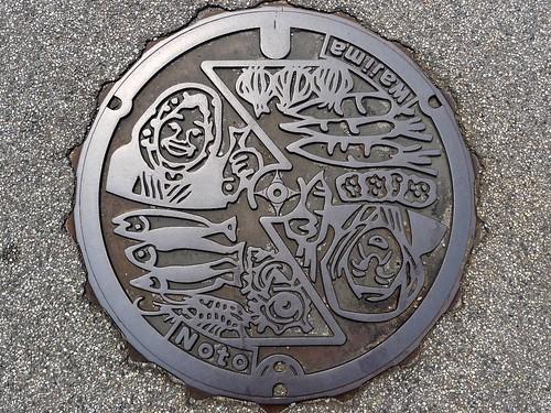 Wajima Ishikawa, manhole cover 6 (石川県輪島市のマンホール6)