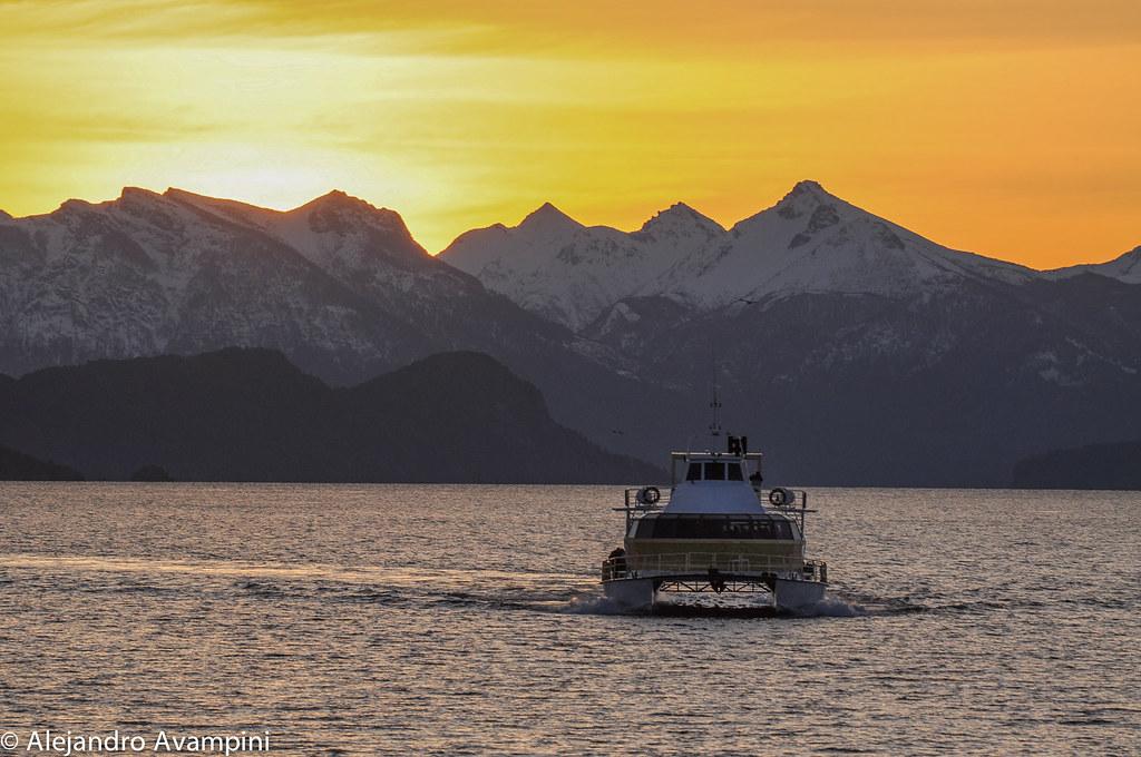 Navegacón por el Nahuel Huapi