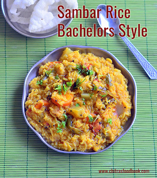 Easy sambar sadam recipe - Bachelors style