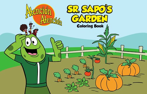 Sr. Sapo's Garden Coloring Book graphic