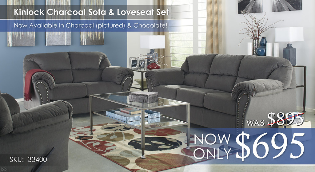 Kinlock Charcoal Living Set 33400-38-35-25-T360