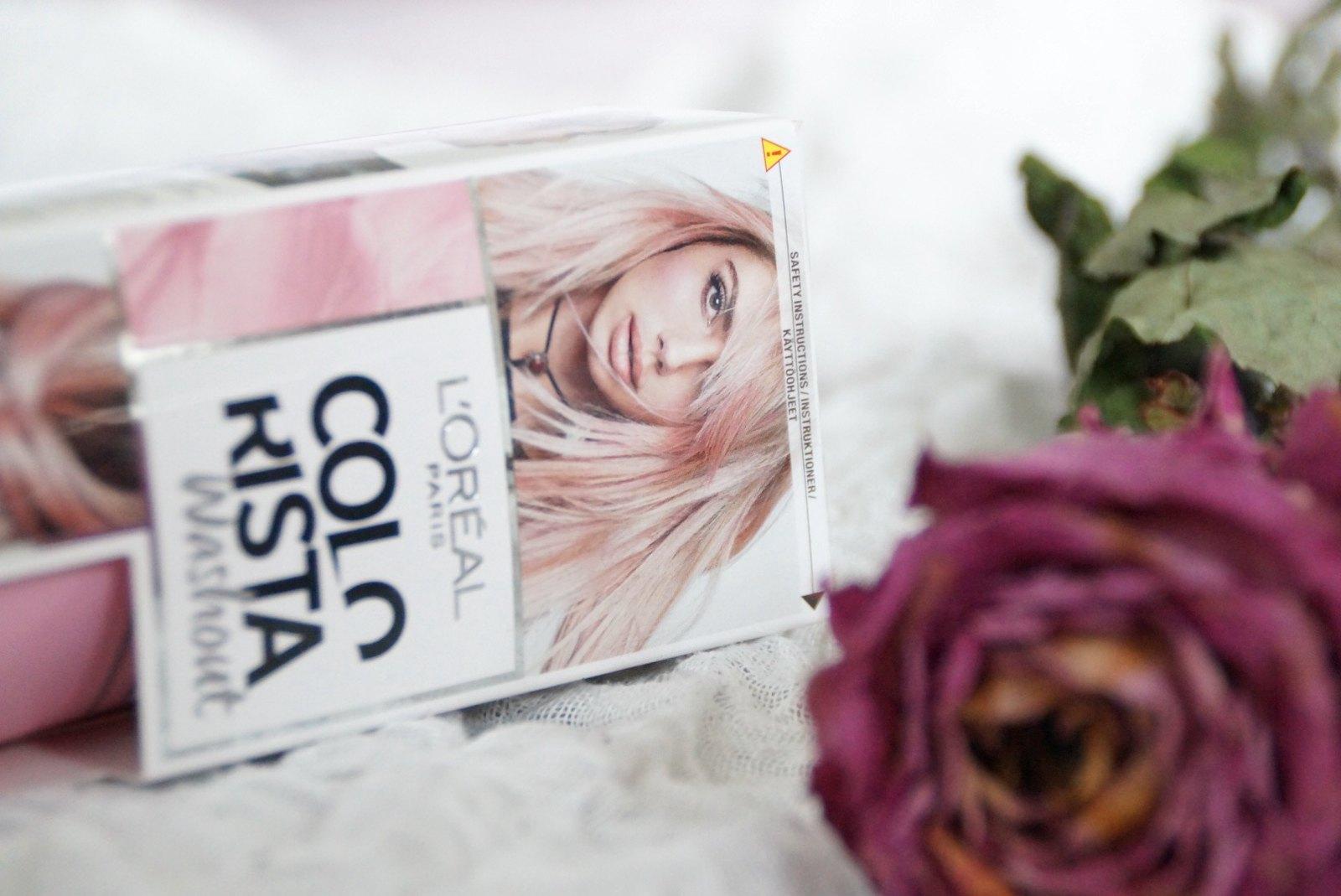 Pink dip dye hair – L'Oréal Colorista washout