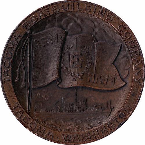 Tacoma Boatbuilding E medal obverse