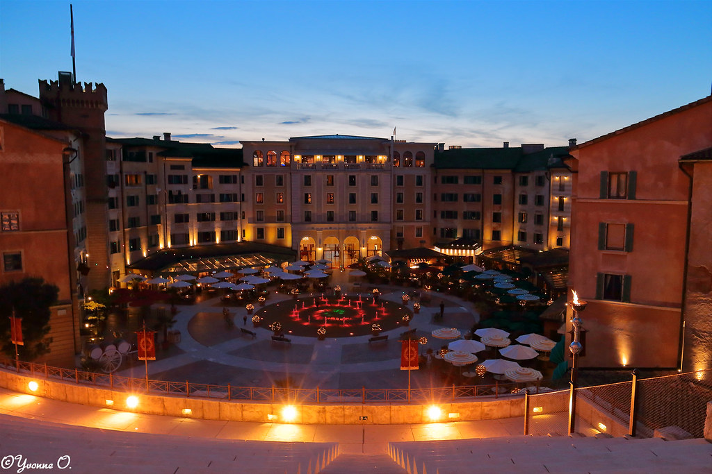 Blue Hour At Hotel Colosseo Europa Park Resort Rust Ger