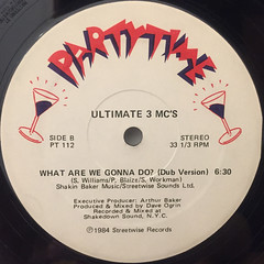 ULTIMATE 3 MC'S:WHAT ARE WE GONNA DO?(LABEL SIDE-B)
