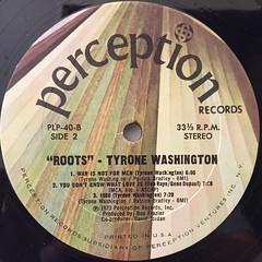 TYRONE WASHINGTON:ROOTS(LABEL SIDE-B)