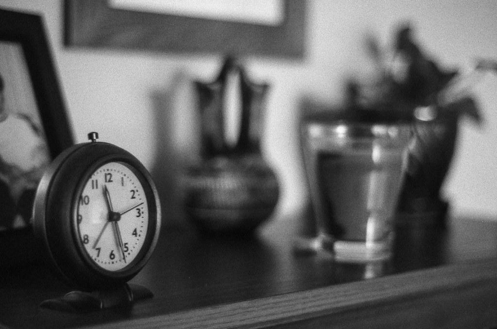 Clock on the bookshelf