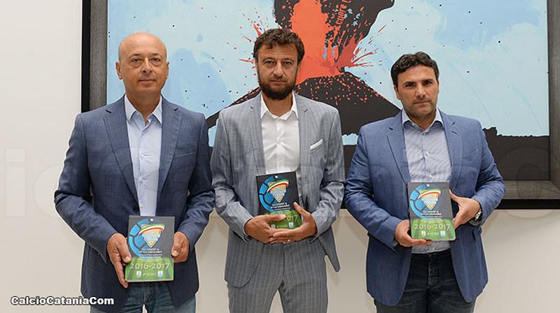 Da sinistra, Giovanni Pulvirenti, Paolo Ghisoni e Alessandro Failla